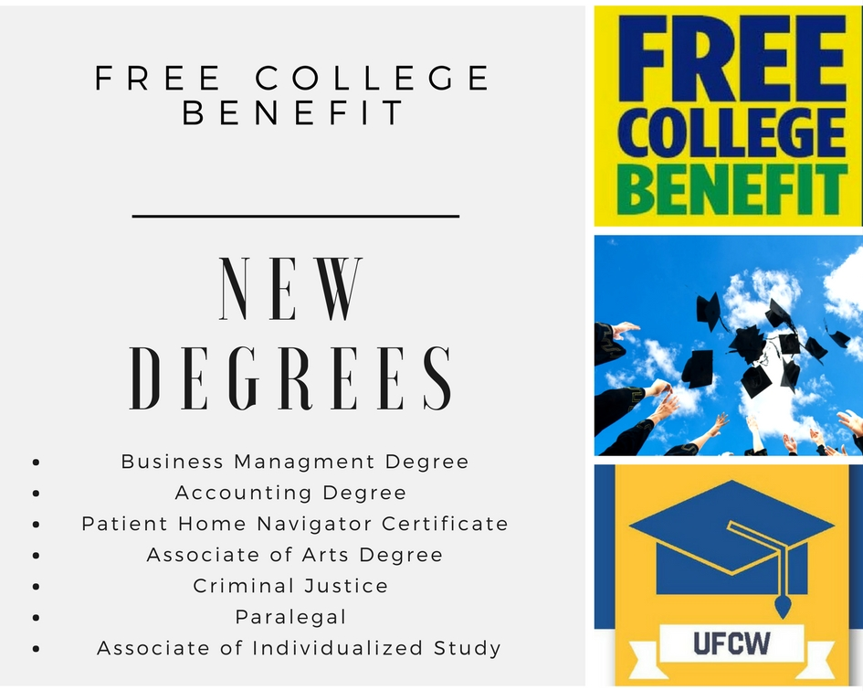 Free College Benefit New Degrees